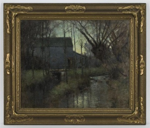 old inn at dusk by paul cornoyer