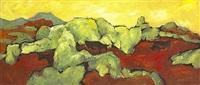 landscape with bulls by desmond carrick