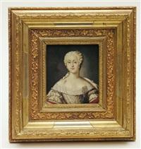 brustportrait der elisabeth christine königin von preußen by johann gottlieb glume
