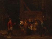 feiernde tischgesellschaft by matheus van helmont