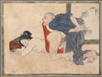 couples en ébats (6 works) by japanese school (19)