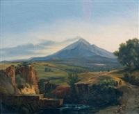 vue de l'etna by jean charles joseph remond