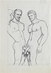 untitled (swordfight) by tom of finland