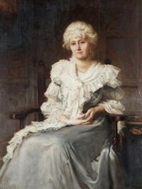 portrait of lady constance walpole, wife of sir spencer walpole by hugh goldwin riviere