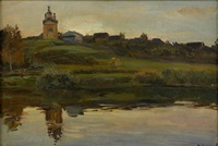 church along the river by manuil (emmanuil, manuk) aladzhalov