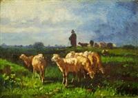 berger et son troupeau by antonio cortés cordero