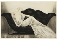 sofa by louis icart