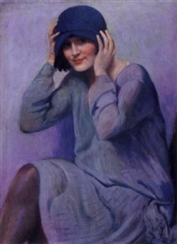 the blue hat by rafael argeles y escriche