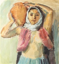 turkish woman with jug by iosif iser