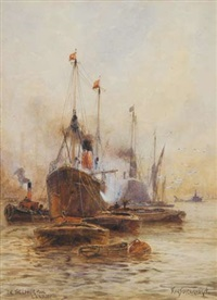 in the lower pool, london by frederick william scarborough