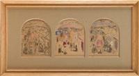 saint-françois de sales (3 works on 1 mount) by pierre bonnard
