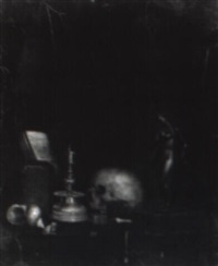 vanitas still life with books and other objects in a niche by johannes cordua