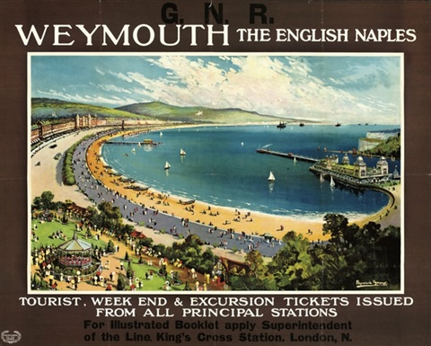 weymouth the english naples poster by walter hayward young