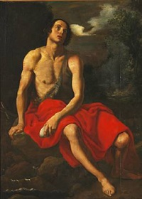 john the baptist in the desert by cristofano allori