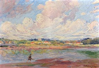 paysage de bord de mer by charles garabed atamian