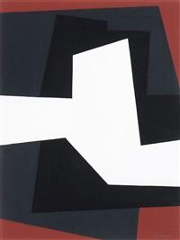 compositie grijs-zwart-rood by amédée cortier