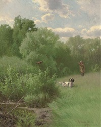 woodcock shooting by hermann gustave simon