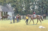 after the race, newmarket july course by neil cawthorne