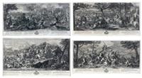 les batailles d'alexandre (4 works after charles le brun) by gérard audran