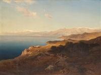 a mediterranean coastal scene by michael haubtmann