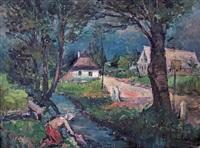 pradlena u potoka by frantisek emler