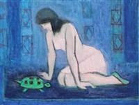 tânără cu broască țestoasă by ana asvadurova ciucurencu
