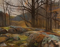 woods in autumn by frank charles hennessey