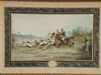 chasse au château de cossé brissac (pair) by théodore fort