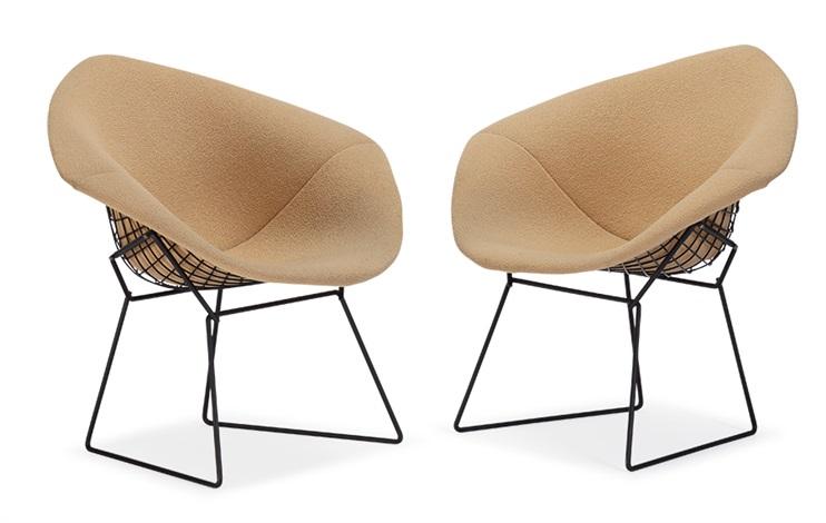 Diamond Chairs (2) By Harry Bertoia