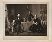lincoln and his family by william sartain