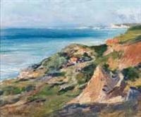 paysage en bord de côte by théophile-henry decanis