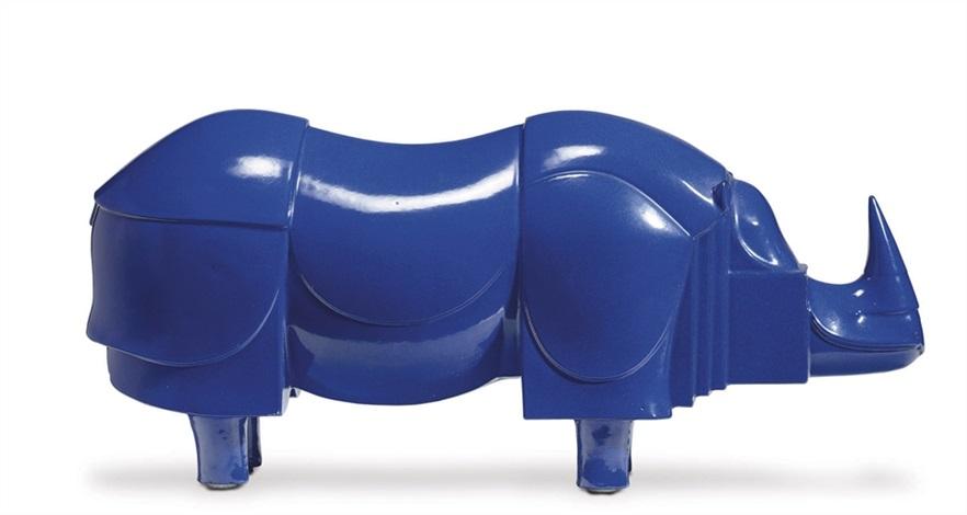 Rhinoceros bleu rhinoceros by François-Xavier Lalanne on artnet