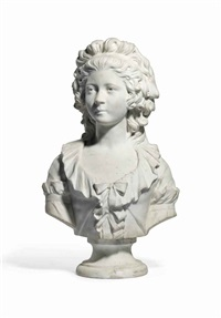 bust of a lady, possibly princess joseph of monaco by françois martin
