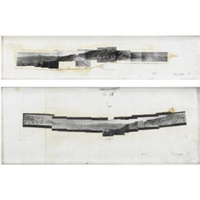drawing double negative - interior by michael heizer