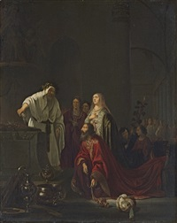 the idolatory of solomon by willem de poorter
