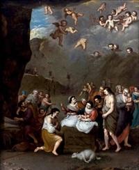 l'adoration des bergers by cornelis van poelenburgh