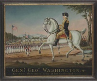 general george washington: reviewing the western army at fort cumberland by frederick kemmelmeyer