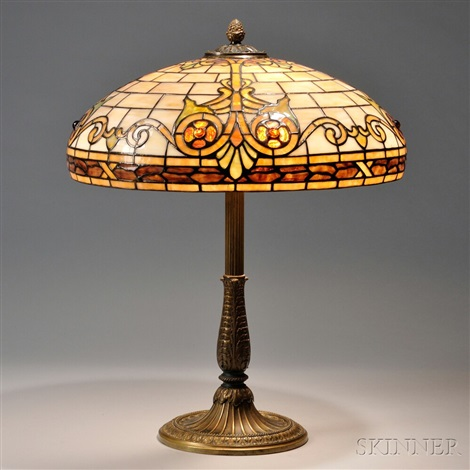 mosaic glass table lamp by r williamson co
