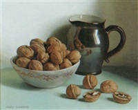 still life of walnuts in a bowl by jacques blanchard