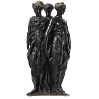 figural group of the three graces by germain pilon