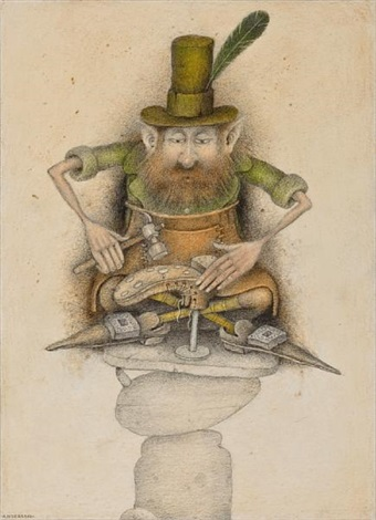 cobbler leprechaun ulster illustration for the leprechaun companion by niall macnamara by wayne anderson