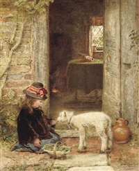 the pet lamb by george hardy