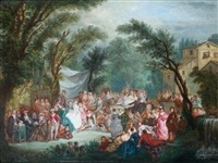 fête villageoise by alexandre paul joseph veron
