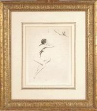 female nude (+ 3 others; 4 works) by warren b. davis