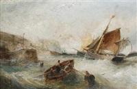 ships off the cornish coast by william webb