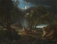 paesaggio con viandanti sorpresi dal temporale by pieter mulier the younger