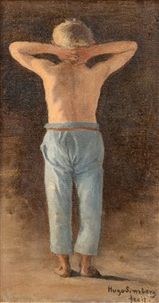 blue pants by hugo simberg