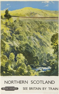 northern scotland, nr invershin, british railways by jack merriott