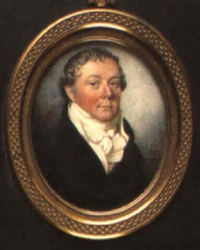portrait of a gentleman in black coat and white waistcoat by james morris davies