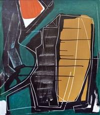 abstracto en verde by luis arbondo